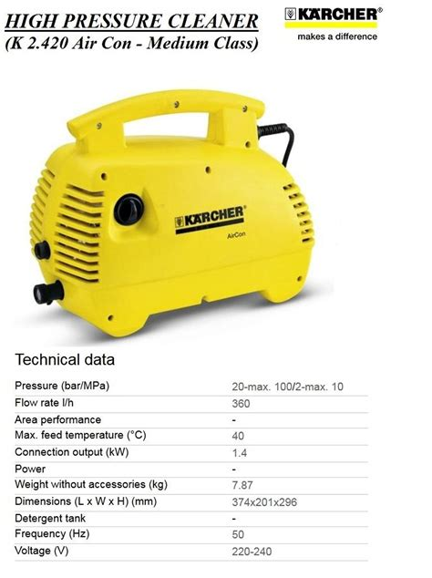 Mesin Cuci Krisbow harga jual karcher k 2 420 air conditioning high pressure