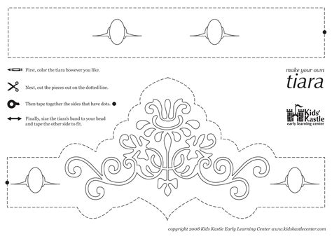 tiara template printable free princess crown pattern printable princess tiara