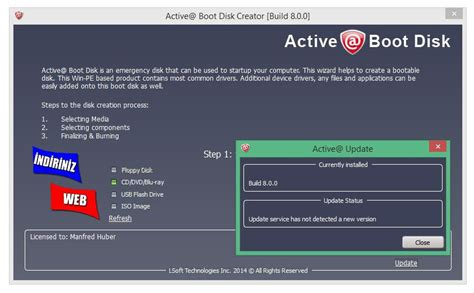 format cd yaratma webdeyakala active boot disk 7 5 3 indir