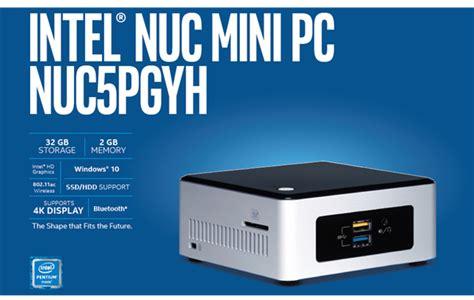 Diskon Mini Pc Intel Nuc Nuc5pgyh Quadcore N3700 2 4ghz jual intel nuc complete set mini pc boxnuc5pgyh h3 murah