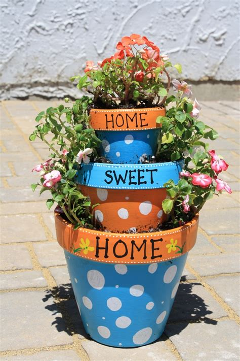 80 Best Craft Ideas Flower Pots Images On