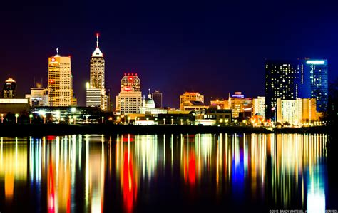 light indianapolis city lights on the water indianapolis skyline white