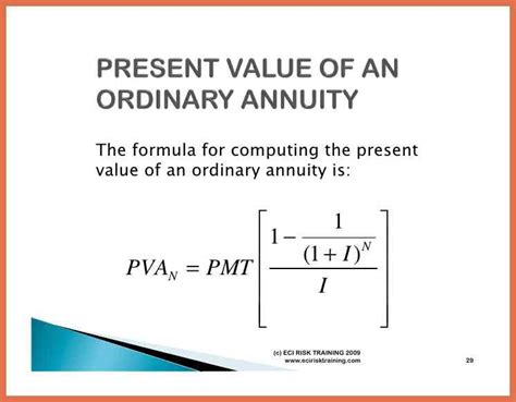 present value of an annuity of 1 in arrears table present value of an annuity formula ideal part