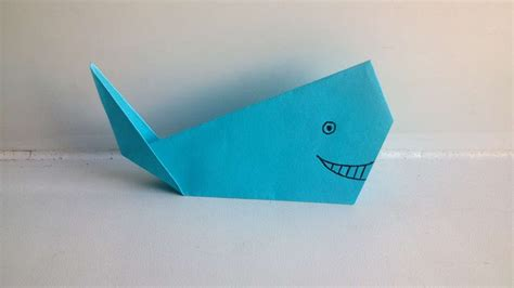 origami whale tutorial how to make an origami whale diy crafts tutorial
