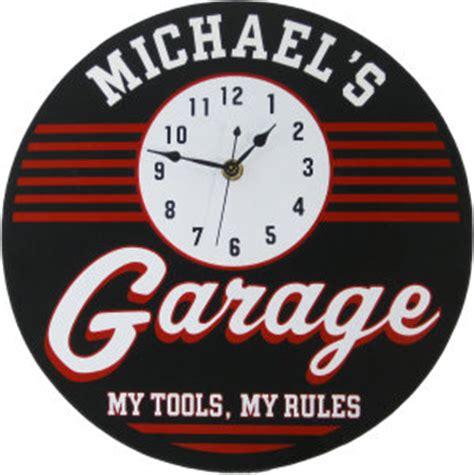personalized garage clock retro