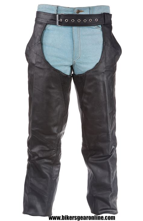 mens leather riding men s motorcycle black leather riding chap pants braided
