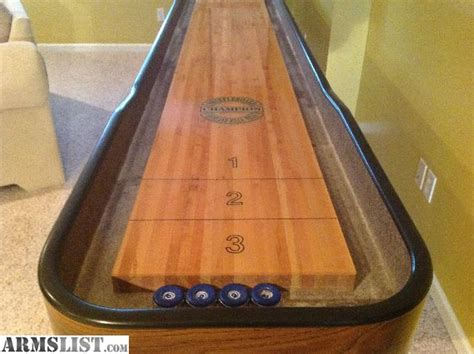 used shuffleboard table for sale armslist for sale trade chion 12 shuffleboard table