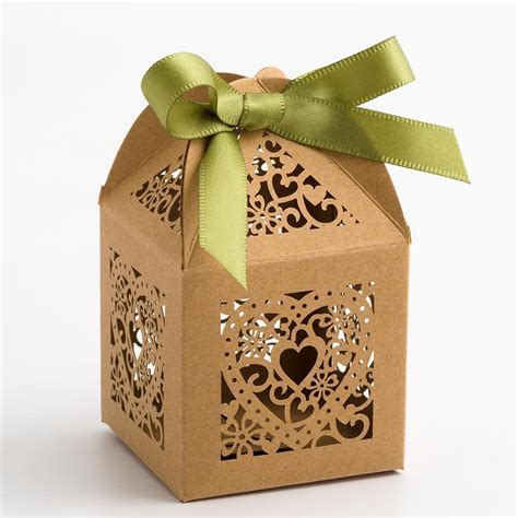 Wedding Favour Boxes by Kraft Filigree Favour Boxes At Favour This