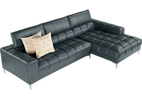 shop for a sofia vergara sybella blue 2 pc sectional at