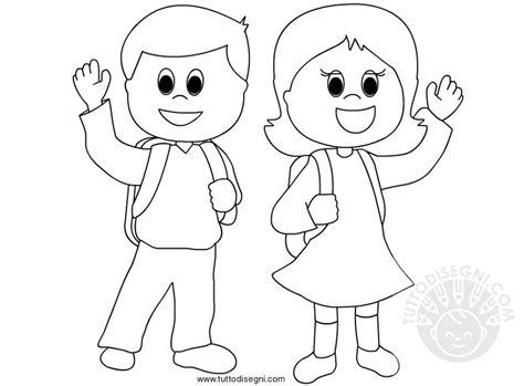 disegni bambini disegni da colorare di bambini a scuola tuttodisegni