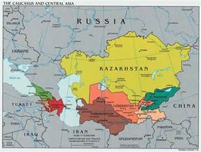 Map Central Asia by Caucasus And Central Asia Political Map 2003 Full Size