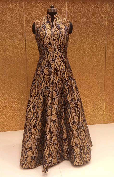 Lomgdress Brocade black gold brocade designer replicas gown shopping
