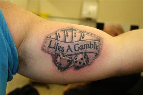 tattoo of life is a gamble urban tattoo warrington