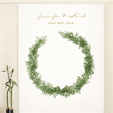 Wedding Backdrop Canvas by Wreath Personalized Premium Canvas Backdrop Weddingstar