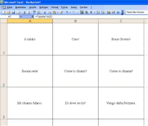 Vorlage Word Spielkarten Karteikarten Mit Excel Vereinfacht