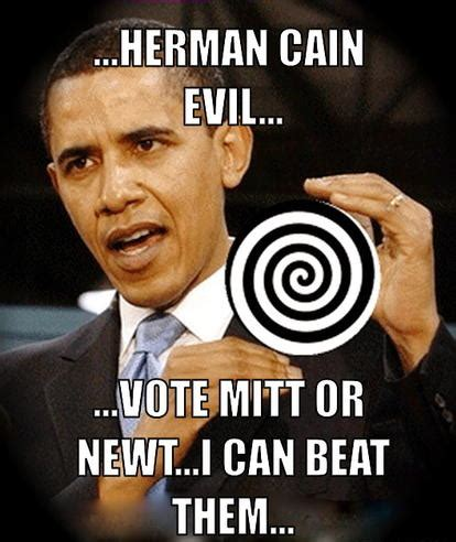 Herman Cain Meme - evil mainstream media determined to destroy herman cain