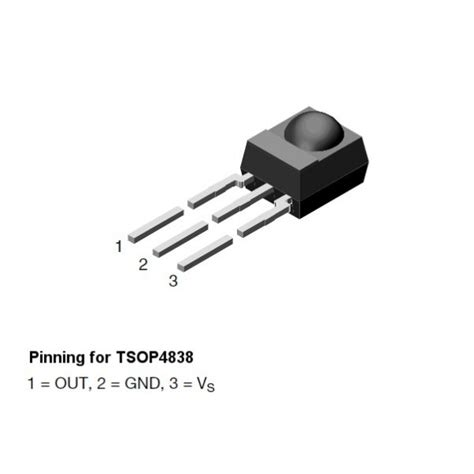 Sensor Sensor Api Infrared Receiver 1 99 ir receiver module 38 khz sensor tsop4838 tinkersphere