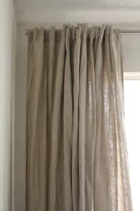 White Linen Curtains Ikea Linen The House On