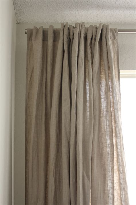 linnen curtains raw linen the house on penny lane