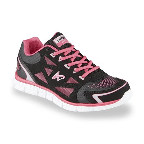 sears womens athletic shoes athletech s dash black pink running shoe shoes