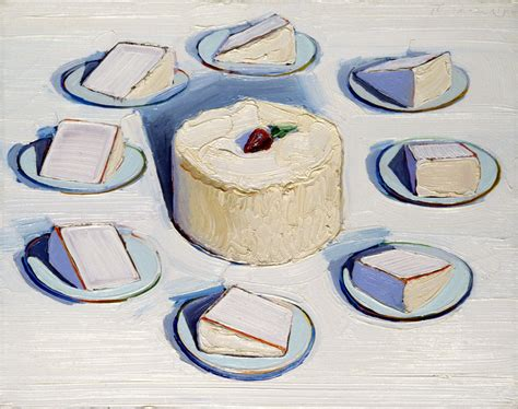 cake painting a tuesday treat from wayne thiebaud the blot