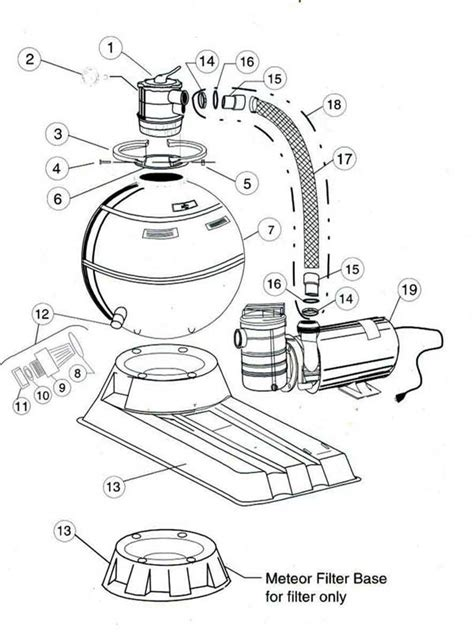 sand filter parts diagram american products meteor sand filter parts diagram