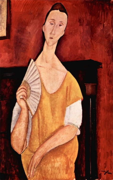 Modigliani Portrait Of Lunia Czechowska With Fan
