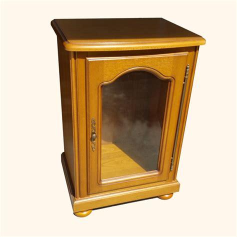 meuble hifi ch 234 ne massif 1 porte vitr 233 e auber