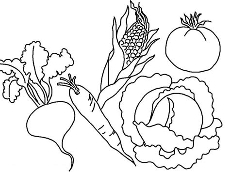 coloring book pages of vegetables vegetable coloring pages to print az coloring pages