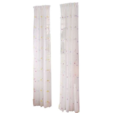 streamer curtain style selections 84 in streamers sheer rod pocket curtain