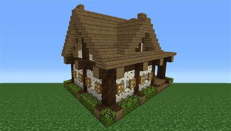minecraft tutorial how to make a small wooden cabin