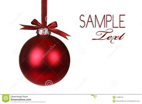 holiday christmas ornament hanging royalty free stock