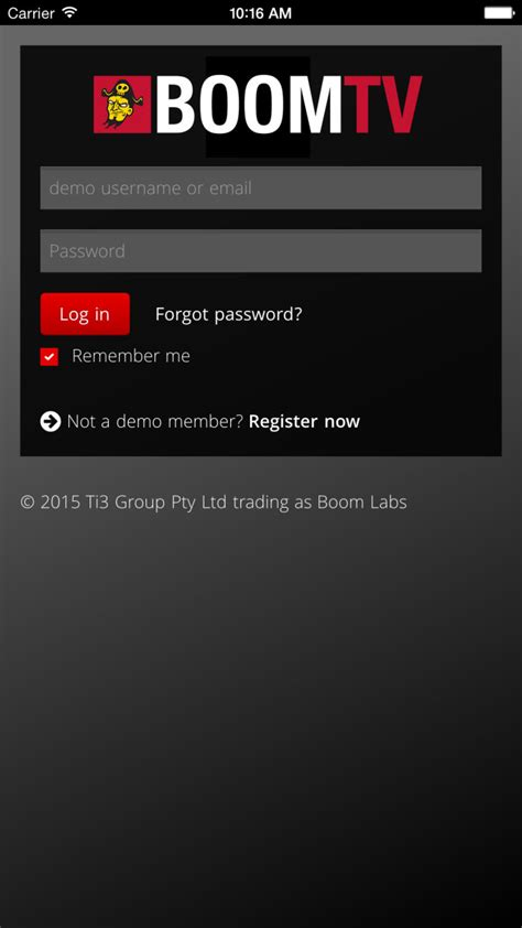 live login mobile live tv boom labs