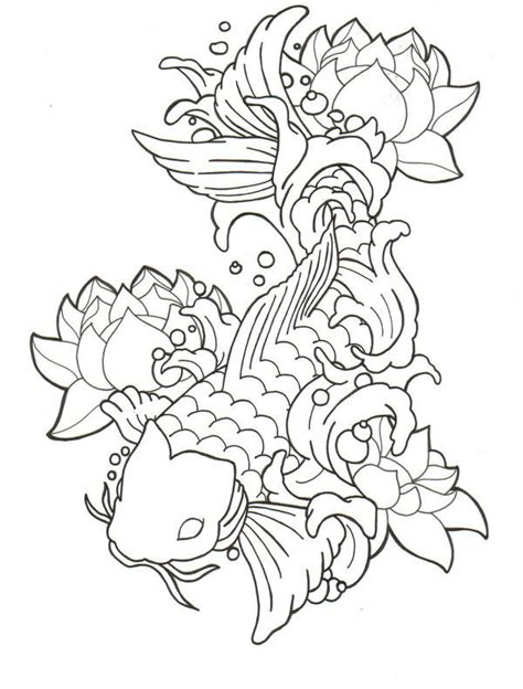 koi fish tattoo outline designs koi pictures pics images and photos for your