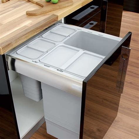 kitchen bin ideas keep everything in its place even your rubbish an integrated waste bin keeps recycling and