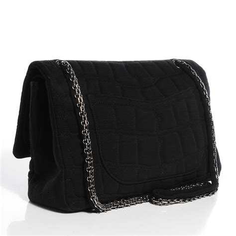 Chanel Crocodile 255 by Chanel Jersey Coco S Croc 2 55 Reissue 227 Flap Black 105518