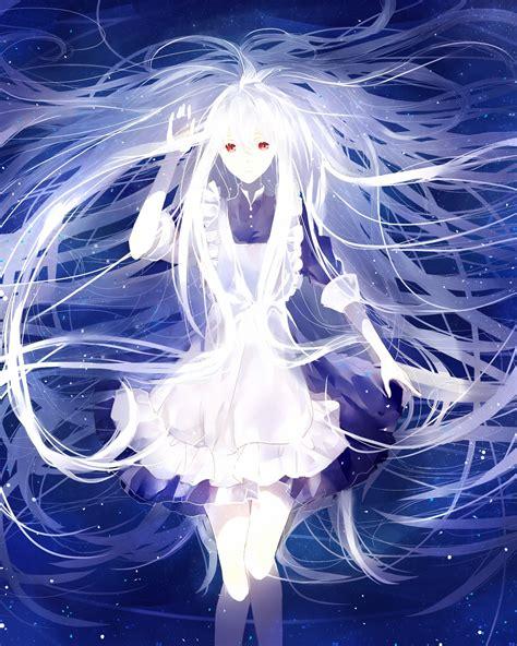 anime girl white hair wallpaper kozakura mary anime girls kagerou project white hair