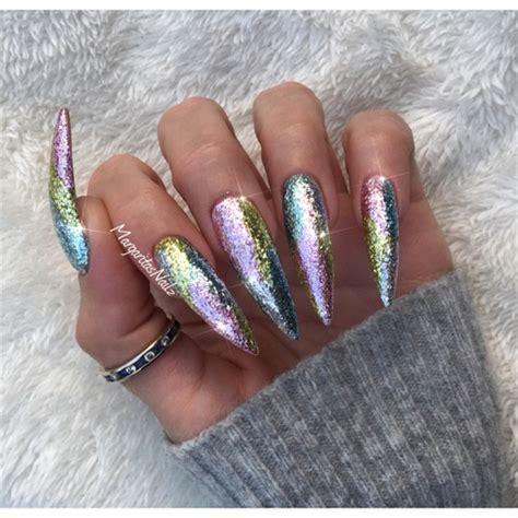 Jiuku Nail Purple Green White Glitter 63 glitter ombr 233 stiletto nails nail gallery
