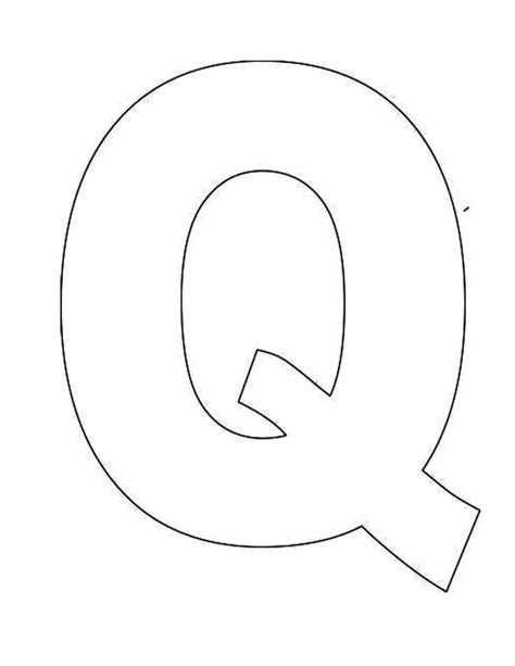 letter templates for pages printable letter q template alphabet letter q templates