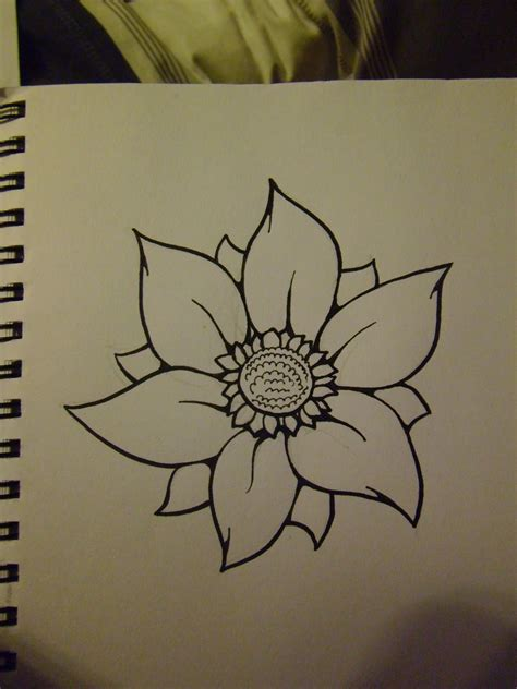 Big Flower Drawing