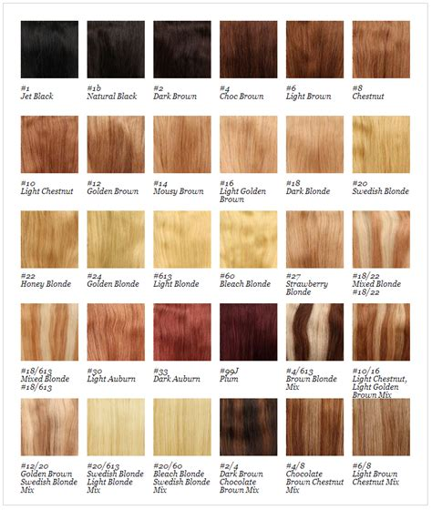 halo couture colors xtras hair extensions colour chart best clip in hair