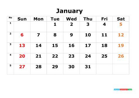printable calendar template january     image  printable  calendar