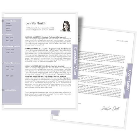 letter page layout cv template cv template package includes professional