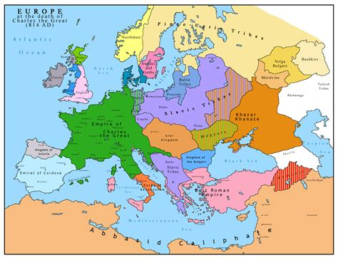 map of european continent 1200th anniversary of charlemagne s history