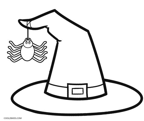 Witch Hat Coloring Page Printable Witch Coloring Pages For Kids Cool2bkids by Witch Hat Coloring Page