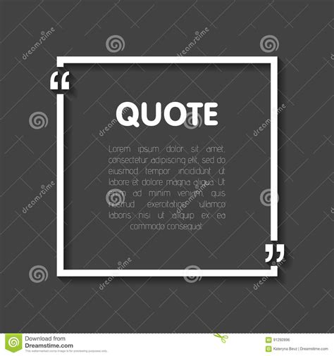 quote card template quote blank templates empty business card paper