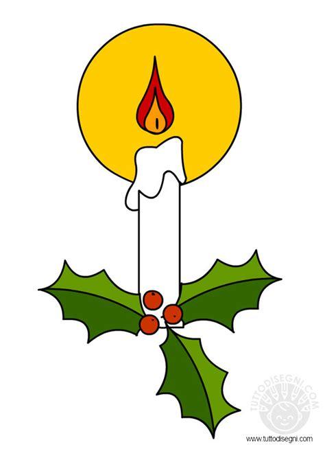 candele di natale da colorare candela di natale tuttodisegni