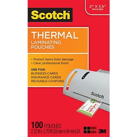 2 x 3 5 business card 10 per page template scotch tp5851 100 thermal laminating pouches business card