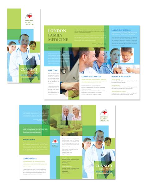 family medicine clinic tri fold brochure template http