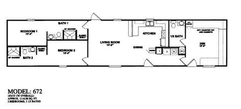 3 bedroom trailer single wide mobile home floor plans 3 bedroom